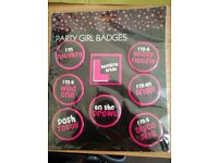 Party girl badges