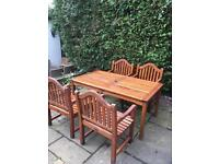 Solid Teak Garden Table And chairs