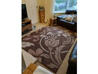Beige brown and cream rug