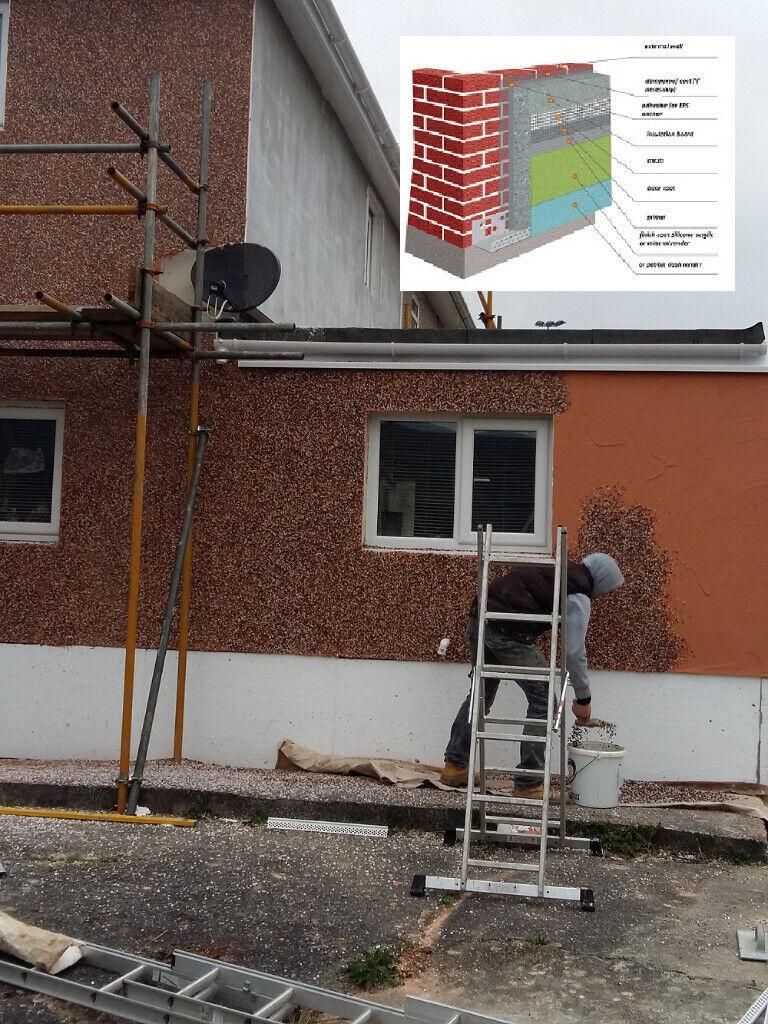 External Wall Insulation silicone, acrylic render or pebble dash Swansea |  in Pontardawe, Swansea | Gumtree