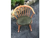 Ercol cow horn 1960 rocking chair