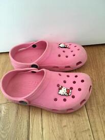 Pink girls crocs size 12-13