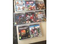 Ps3 and 8 games with controllers