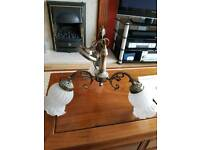 6 Ceiling Antique Lights and 2 wall mounted