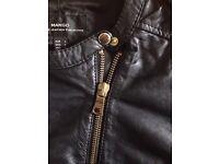 Brand new Mango black leather biker jacket