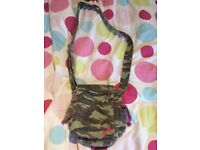 Girls Army print/Camouflage Shoulder Bag, great condition from pet and smoke free home