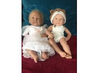 BERENGUER REAL LIFE DOLLS TWINS GIRL AND BOY