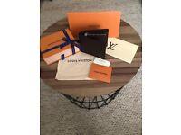 Louis Vuitton Brown Leather Mens Wallet