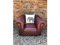Matching pair of club Chesterfield armchairs. Can deliver