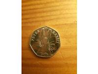 Peter Rabbit 2016 50p coin