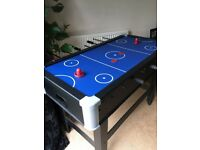 Football/air hockey table