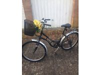 Black upright Pushbike for sale