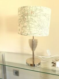 """""""Map of London"""" Lamp. 18.75 inches high. Excellent Condition."""