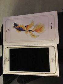 Brand new iphone 6s plus gold 32gb, in box with screen protector intact and apple guarantee