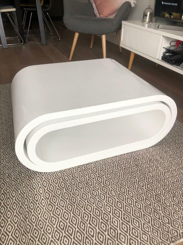 Dwell Coffee Table Gloss White Two Piece Set In Putney London Gumtree