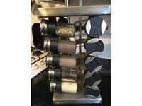 Spinning multiple spice rack