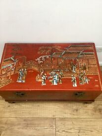 Beautiful Oriental chest with stand