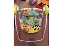 Bright starts baby swing - safari