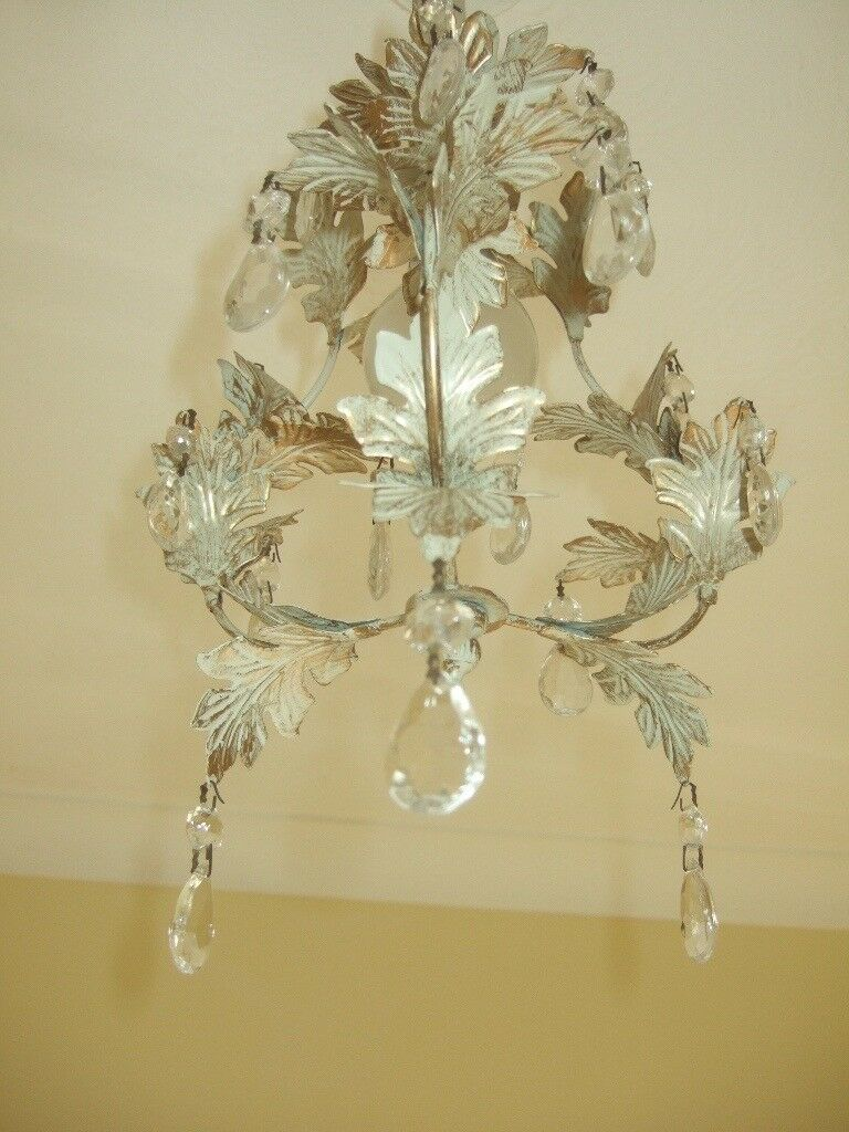 shabby chic lighting. VERY PRETTY SMALL LAURA ASHLEY SHABBY CHIC LIGHT SHADE WITH DROP CRYSTALS Shabby Chic Lighting