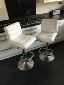 Pair of white barstools