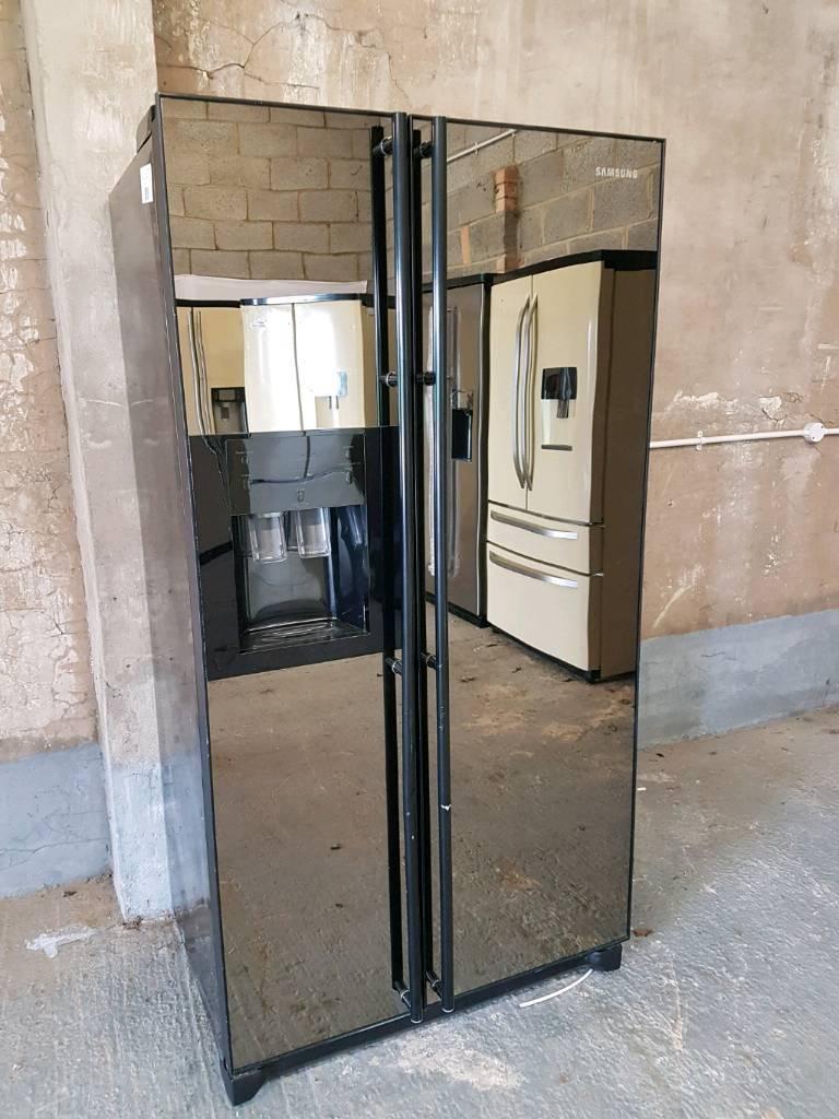 Samsung Rsh1 Glass Door American Fridge Freezer