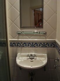 Heritage victorian design cloakroom/ bathroom basin can be wall hung .