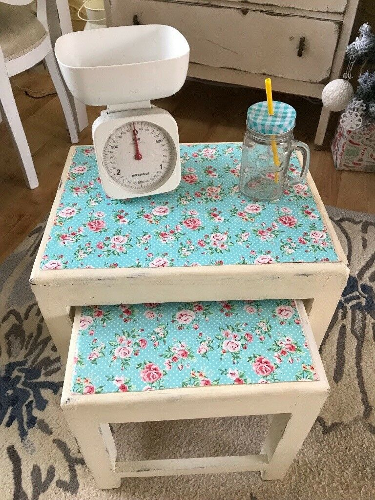 2 shabby chic wooden stools Cath Kidston | in Hull, East Yorkshire ...