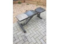 Marcy weight bench and preacher curl bench