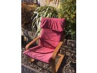 IKEA POANG CHAIR COMFY PINE