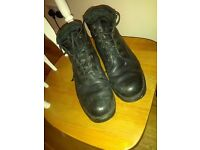 Mens German Austrian combat army type boots size 9 pre worn