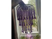 Purple crystal chandelier