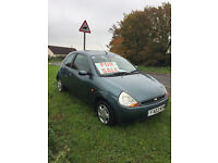 Ford KA Collection, Low Mileage 3 door hatchback. 1.3 Petrol Long M.O.T.