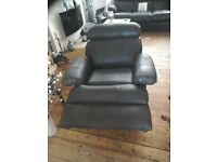 3 position real leather reclining armchair.