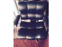Retro black leather chair