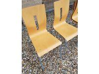 4 x Beech wood chairs