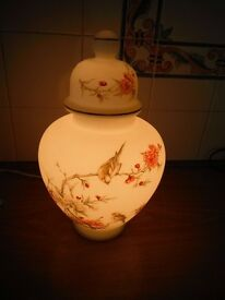 Vintage Italian Decorated & illuminated Vase - NOW REDUCED*Unusual Retro Lamp.*
