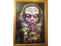 "Large Hand Painted ""JIGSAW"" Clown, Featured in the ""SAW"" movies"