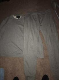 Genuine Armani sweatshirt and matching cuffed joggers