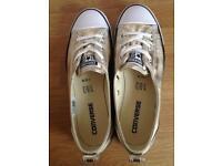 Gold converse shoes size 5