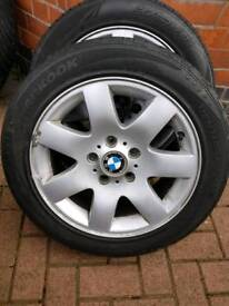 """Bmw original alloy wheels with tyres 16"""""""