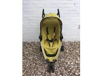 Pre-owned Quinny Zapp pushchair buggy stroller in yellow
