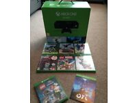 Xbox one. Still have original box. Excellent condition as hardly used. Comes with 8 games as seen