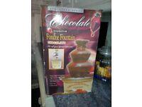 CHOCOLATE FONDUE FOUNTAIN STAINLESS STEEL USED TWICE LIKE NEW