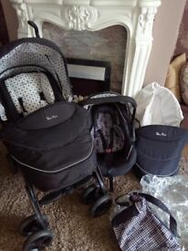 Silvercross 3d limited addition pushchair travel system