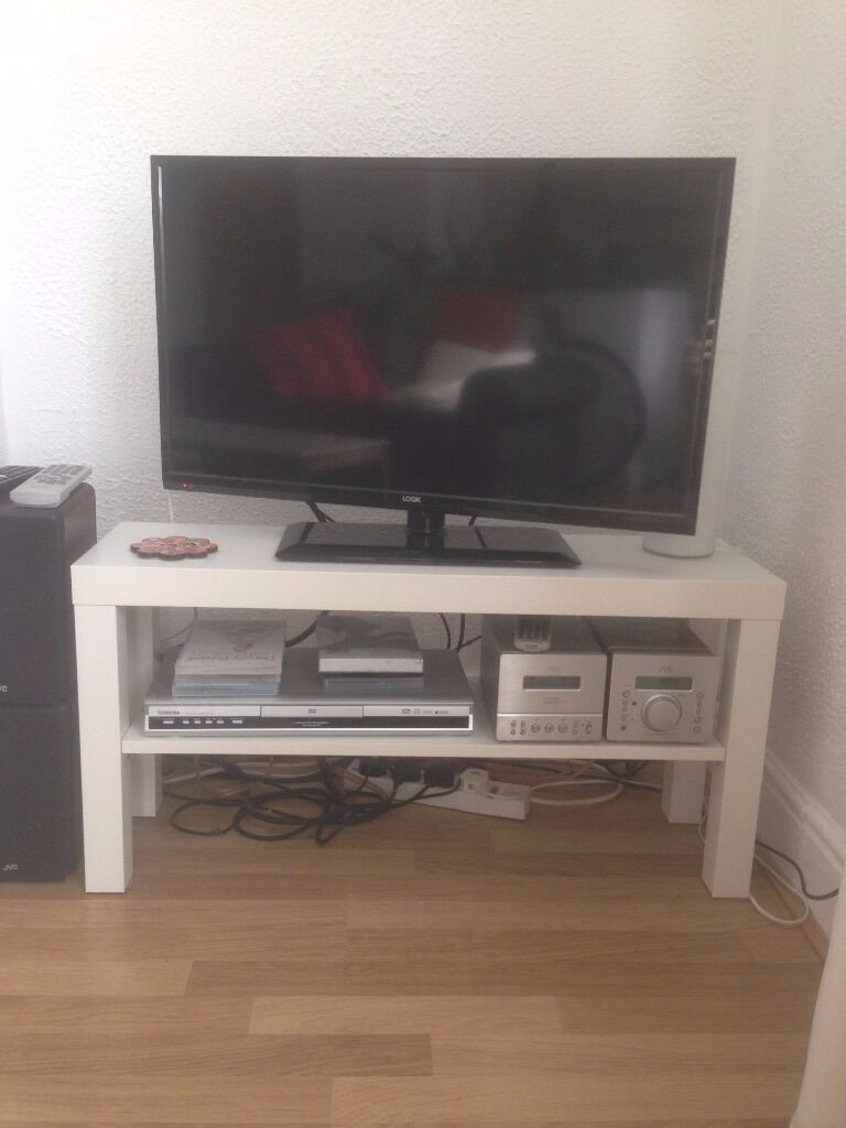 Ikea lack tv bench white in headingley west yorkshire - Ikea table tv ...