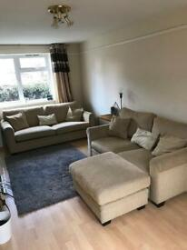 2 x 2 sofa and pouffe