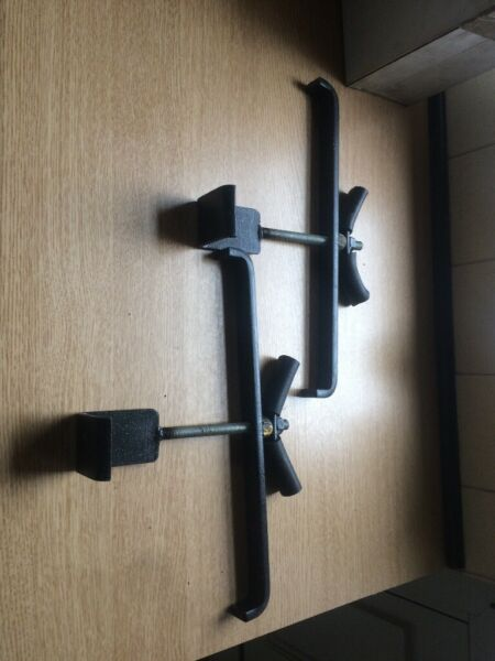 Ladder Clamps - Pair for sale  Huddersfield, West Yorkshire