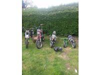 Pit bikes, midi moto, mini motos, spares