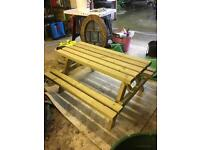 Child's picnic bench new