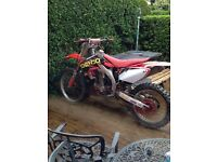 Crf 450 for sale or swaps for road legal bike